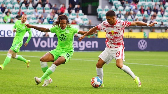 Kevin Mbabu 19, Wolfsburg, Andre Silva 33, RB Leipzig