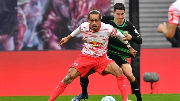 Yussuf Poulsen 9, RB Leipzig  Marco Meyerhöfer Meyerhoefer 18, SpVgg Greuther Fürth