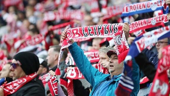 Fans von RB Leipzig.