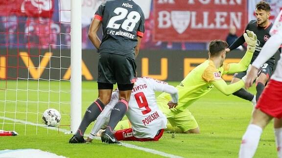 RB Leipzig gegen 1. FC Nürnberg.