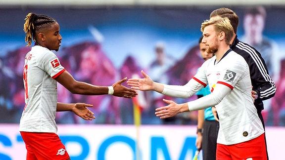 Emil Forsberg RB Leipzig wird für Christopher Nkunku RB Leipzig eingewechselt.