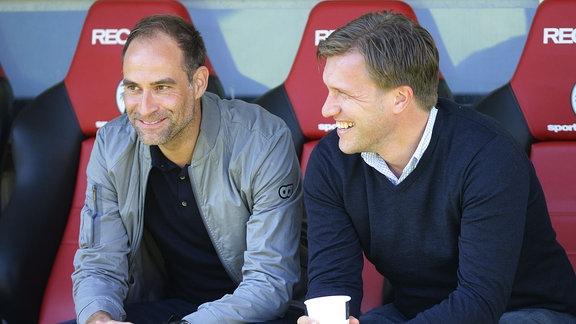 Oliver Mintzlaff Geschäftsführer RB Leipzig und Markus Krösche Sportdirektor RB Leipzig