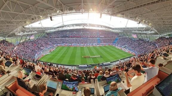 14.09.2019 volles Stadon bei RB Leipzig gegen Bayern München