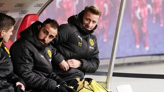 Marco Reus (11, Dortmund) auf der Bank