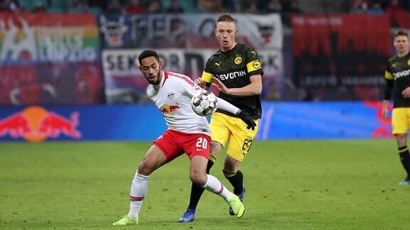 Matheus Cunha (20, RB Leipzig) und Marius Wolf (27, Dortmund).