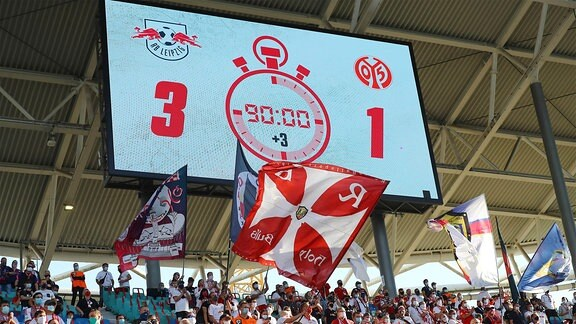 Anzeigetafel mit dem Endstand 3-1.