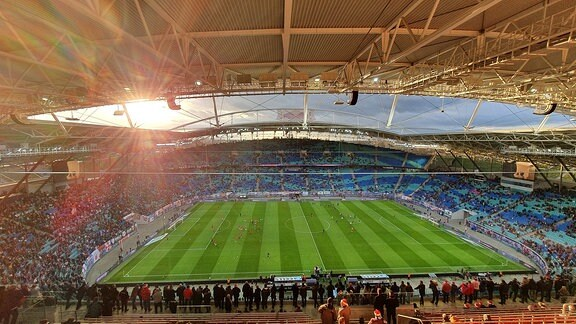 Stadion in Leipzig.