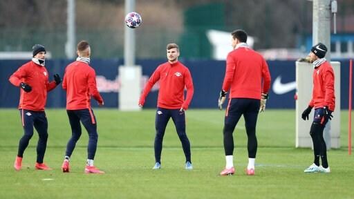 Spieler von RB Leipzig beim Training
