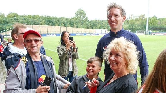 Trainer Julian Nagelsmann und Fans