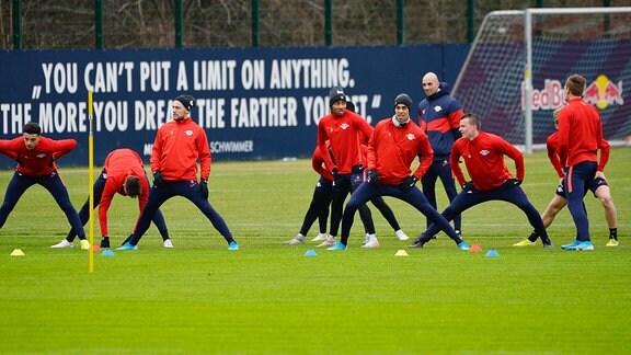 Trainingsauftakt nach der Winterpause bei Bundesligist RB Leipzig.
