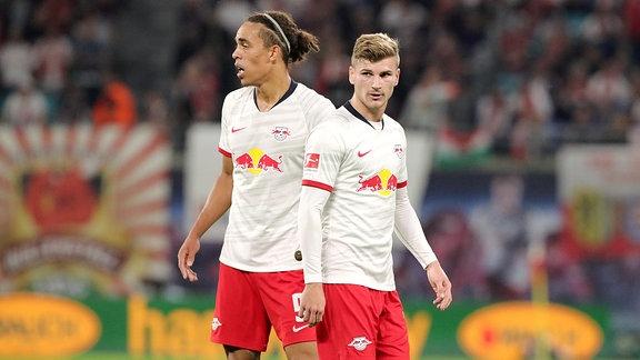 Yussuf Poulsen und Timo Werner