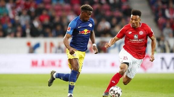 Nordi Mukiele (22, RB Leipzig) und Karim Onisiwo (21, Mainz)
