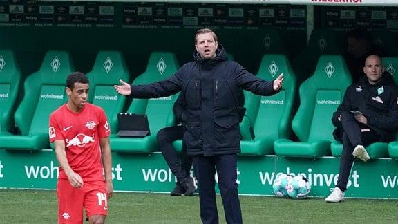Trainer Florian Kohfeldt Werder Bremen ist fassungslos.
