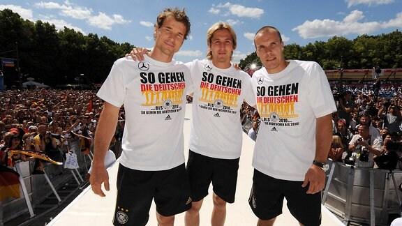 v.li.: Jens Lehmann, Rene Adler und Robert Enke