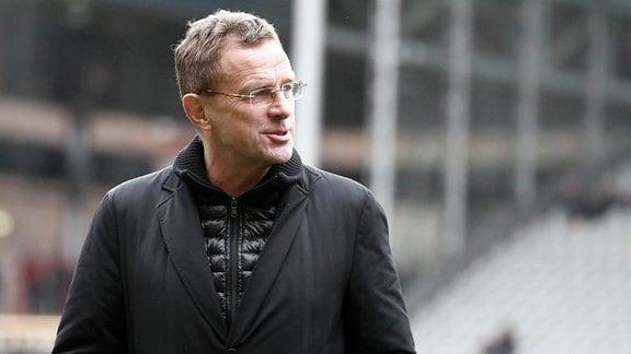Trainer Ralf Rangnick, (RB Leipzig).