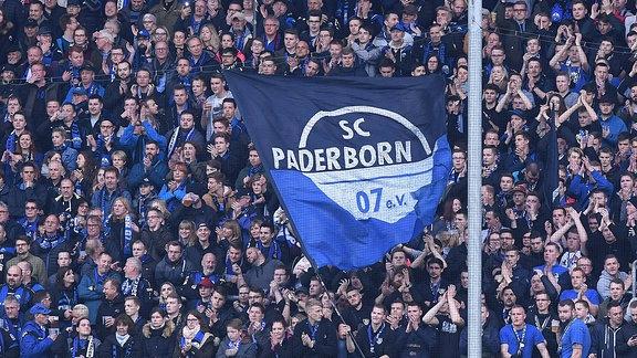 Benteler-Arena in Paderborn Fanblock