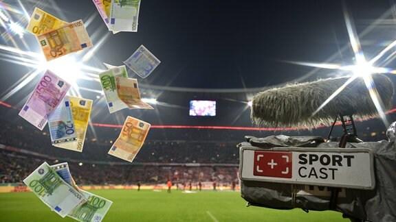 Symbolbild - Kommerzialisierung im Geldregen