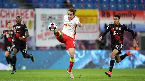 Yussuf Poulsen RB Leipzig am Ball