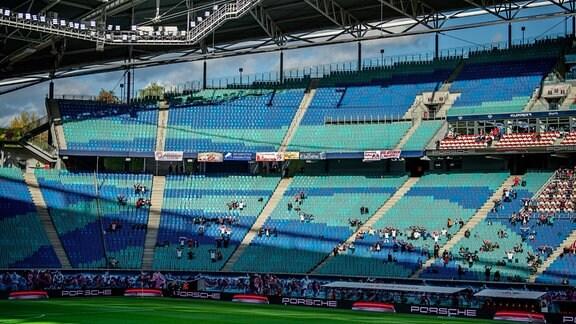Zuschauer bei RB Leipzig im Stadion