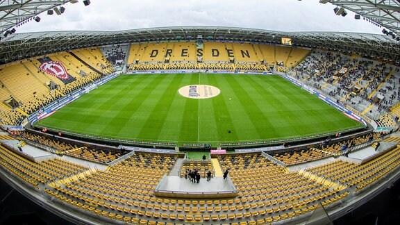 Das Stadion von Dynamo Dresden