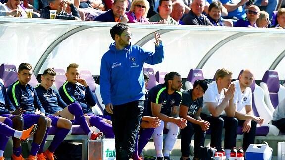 Trainer Hannes Drews (Aue)