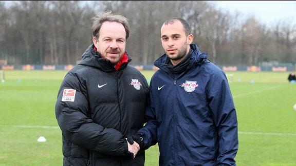 Alexander Zorniger und Omer Damari (RB Leipzig)