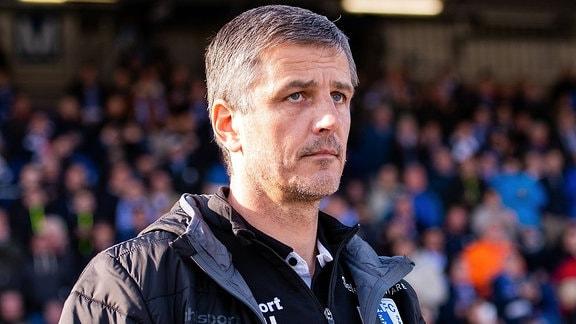 Trainer Jens Haertel (1.FC Magdeburg)