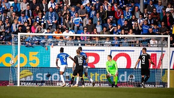 Tor zum 2:1 Marius Buelter (1. FC Magdeburg)