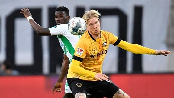 Hans Nunoo Sarpei 14, SpVgg Greuther Fürth  Simon Makienok Christoffersen 13, SG Dynamo Dresden