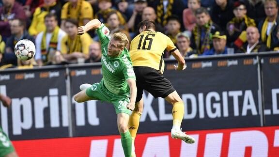 Maximilian Sauer (24, SpVgg Greuther Fürth ) gegen Philip Heise (16, SG Dynamo Dresden / SGD )