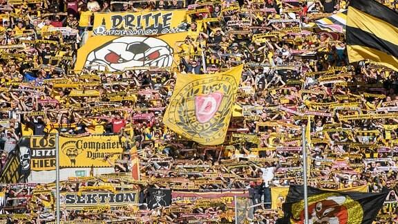 Dynamo-Fans im K-Block