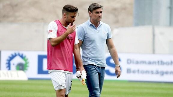 Niklas Kreuzer mit Vater Oliver Kreuzer