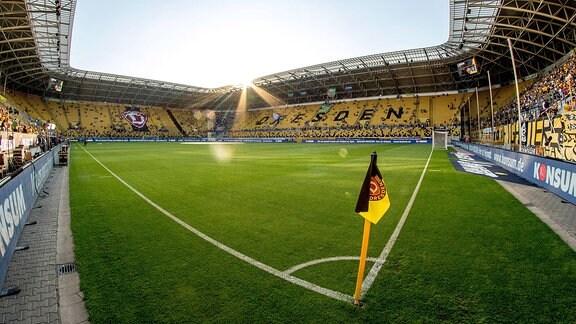 Weitwinkel-Motiv vom Rudolf-Harbig-Stadion