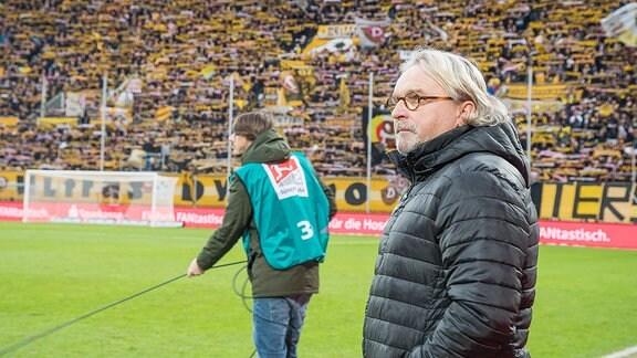 Dresdens Interimstrainer Heiko Scholz kurz vor Beginn des Spiels SG Dynamo Dresden - SV Sandhausen