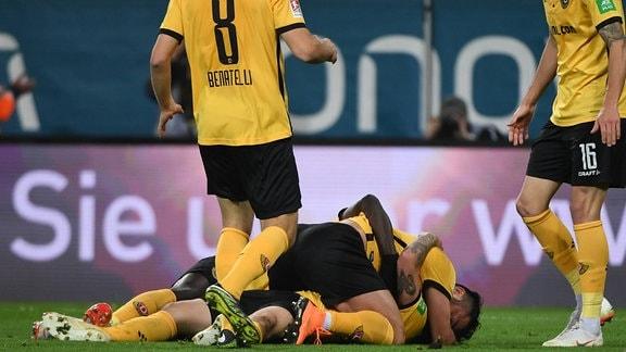 Spieler der SG Dynamo Dresden