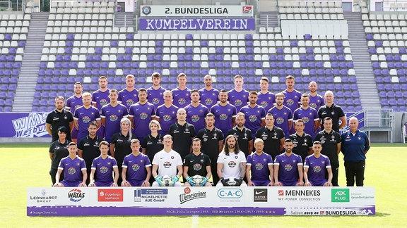FC Erzgebirge Aue, Mannschaftsfoto 2019/2020