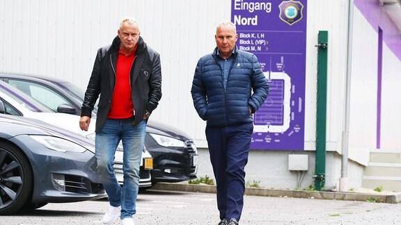 Geschäftsführer Michael Voigt und Präsident Helge Leonhardt