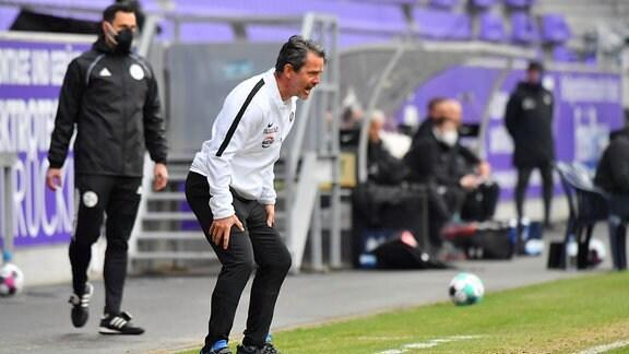Trainer Dirk Schuster (FC Erzgebirge Aue)