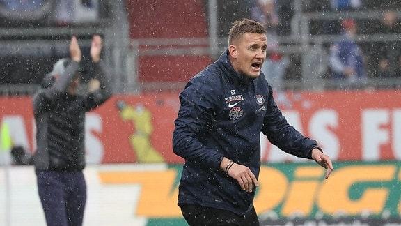 Trainer Ole Werner Holstein Kiel, Cheftrainer Aleksey Shpilevski FC Erzgebirge Aue