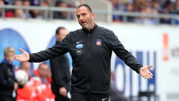 Trainer Frank Schmidt (1.FC Heidenheim)