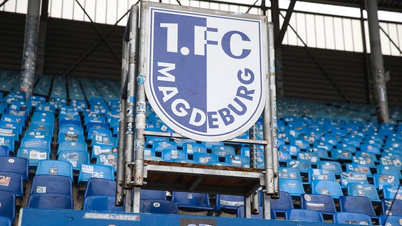 Nordtribüne im Stadion des 1. FC Magdeburg.