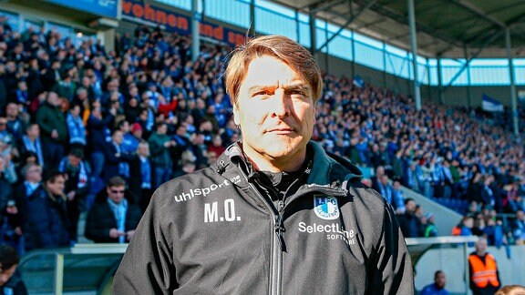 1.FC Magdeburg - SC Paderborn 07 emspor, v.l. Michael Oenning (Magdeburg, Trainer)