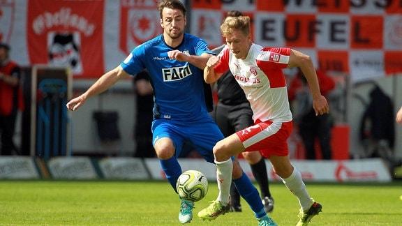 Tobias Schilk (Halle) gegen Christian Beck (Magdeburg)
