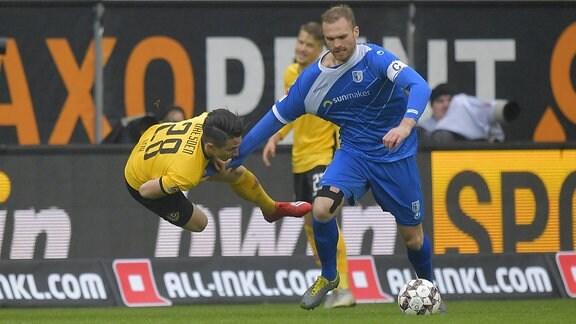 Magdeburgs Jan Kirchhoff foult Dynamos Baris Atik