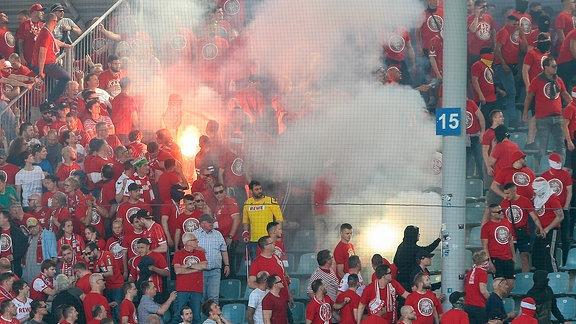Pyrotechnik im Stadion