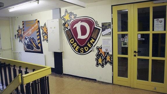 Blick in die Geschäftsstelle der SG Dynamo Dresden im Steinhaus