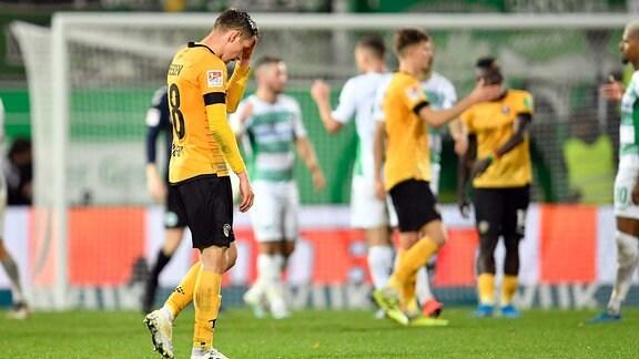 Jannik Müller 18, SG Dynamo Dresden - Enttäuschung nach Spielende