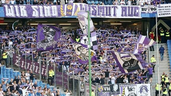 Fans von Erzgebirge Aue.