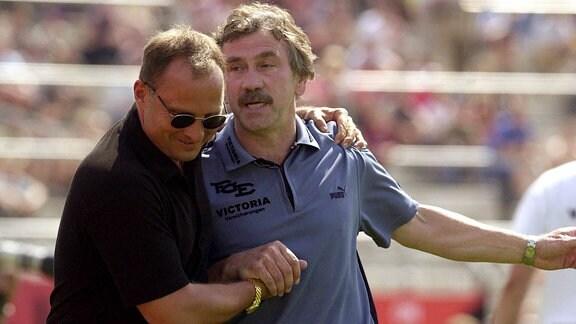 Uwe Leonhardt und Trainer Gerd Schädlich