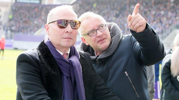 Helge Leonhardt und Michael Voigt (FC Erzgebirge Aue)